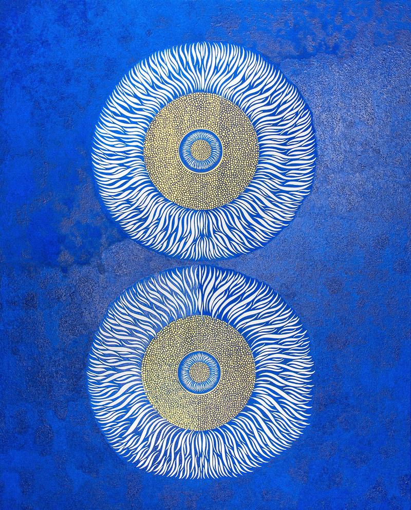 Cosmos, 100x80cm, Huile et acrylique sur toile, 2017